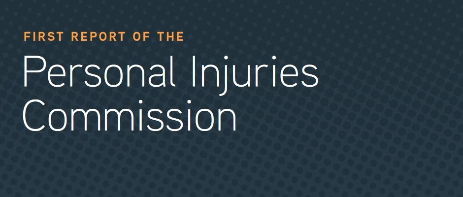 First Report of the Personal Injuries Commission