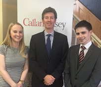 Interns 2016 at Callan Tansey - Sorcha King & Anthony Hopkins with Brian Gill