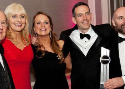 Dr Roger Clements, Miriam O'Callaghan celebrating their Win as Connaught Law Firm of the 2016 with Partners Niamh Ni Mhurchu, Roger Murray and John Kelly