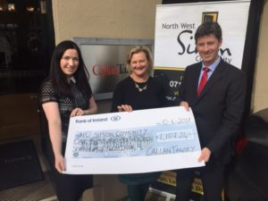 Cheque Presentation Simon Community from Callan Tansey