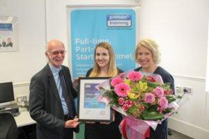 Abby Livingstone, receives Distinction in Legal Secretary Diploma (Irish Law) from Pitman Training, Sligo.