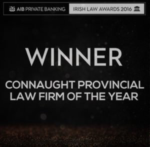 Irish Law Awards 2016 announcing Callan Tansey Winner of Connaught Provincial Law Firm of the Year