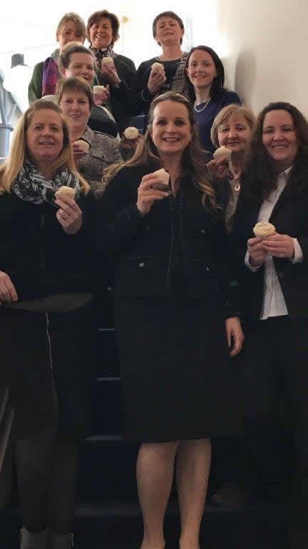 Callan Tansey women staff with ice-creams at Callan Tansey offices