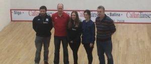 Ballina Stephenites Squash Club with sponsors Callan Tansey
