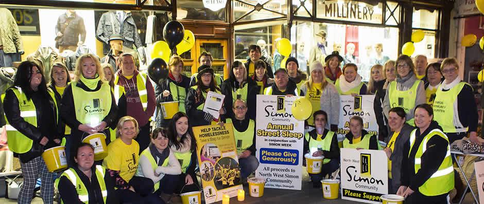Participants of Annual Street Sleep in Sligo