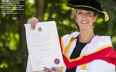 Vicky Phelan with honorary doctorate