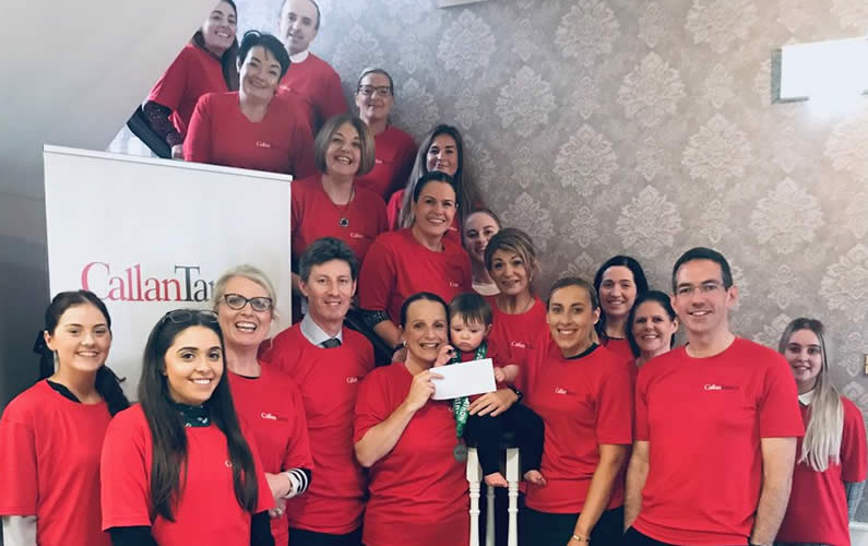 Callan Tansey staff celebrate running the Galway Bay half marathon, raising much needed funds for Temple Street Children's Hospital