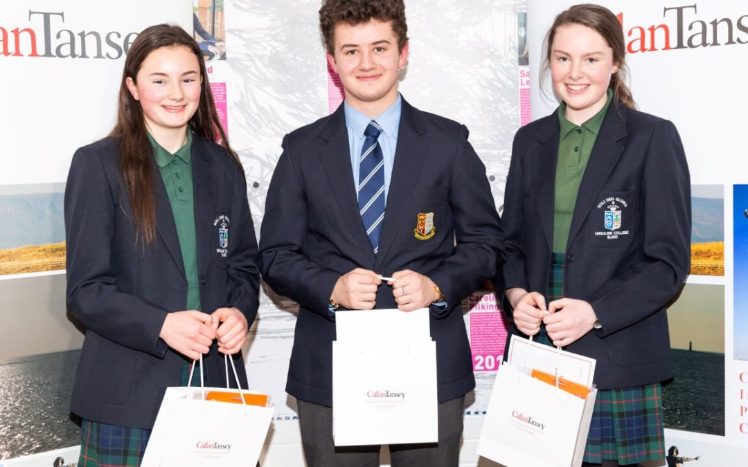 Callan Tansey Essay Competition 2019 In Association with The Sligo Champion at The Hawkswell Theatre, 31st January, 2019