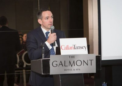 Roger Murray speaking at Callan Tansey Medicolegal Seminar at Galmont Hotel, Galway
