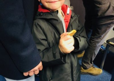 Boy attending Sligo Rovers match