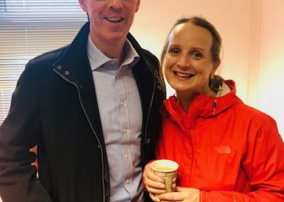 Brian Gill & Niamh Ni Mhurchu at Sligo Rovers Game