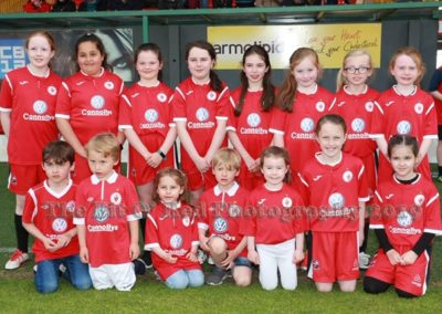 Children in Sligo Rovers Kit