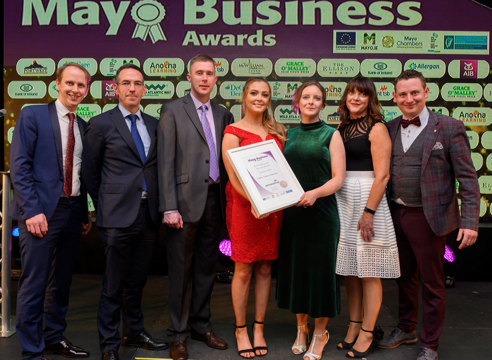 Callan Tansey at Mayo Business Awards