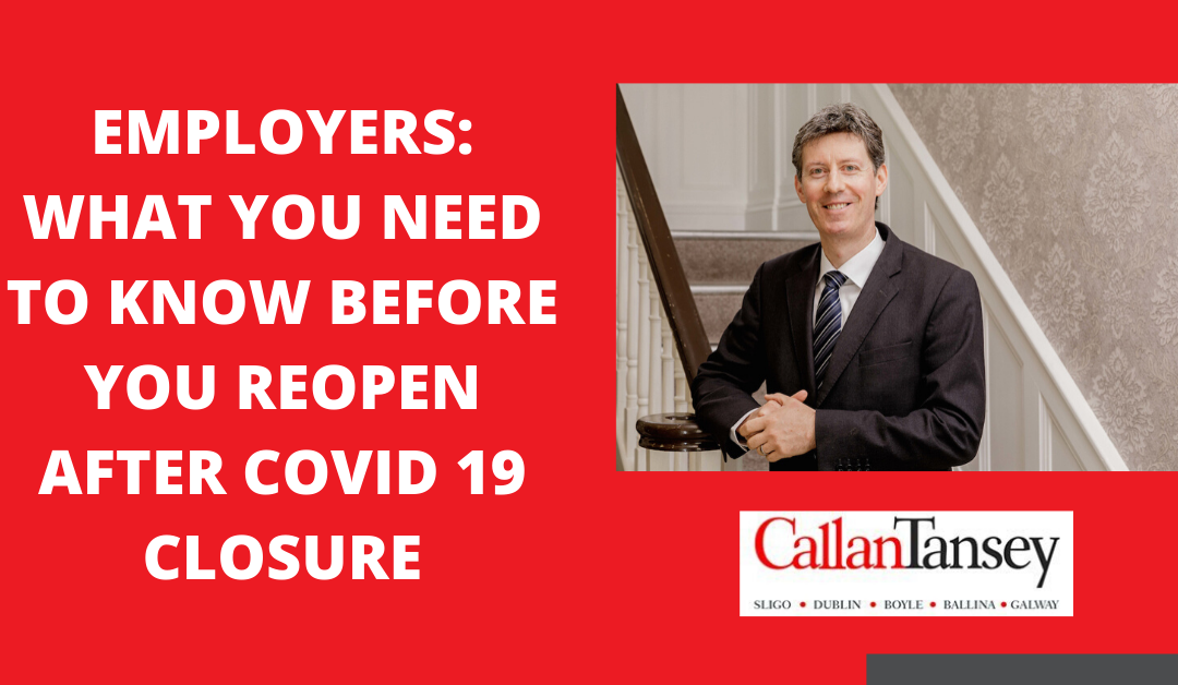 Employers_ What you need to know to open your business safely after COVID 19 Closure