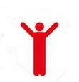 red man with arms stretched up