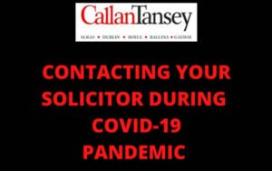 Writing Contacting Your Solicitor During Covid 19