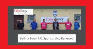 Callan Tansey with Ballina Town FC