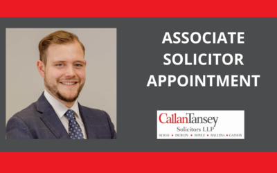 Associate Solicitor Appointment at Callan Tansey