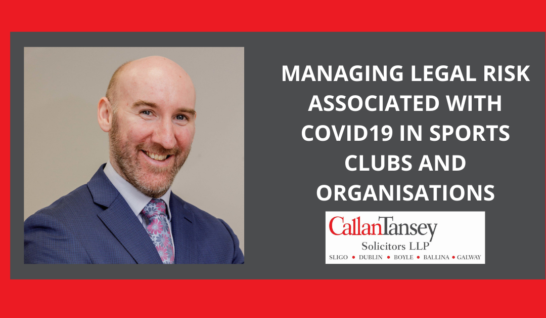 Managing Legal Risk Associated With Covid-19 In Sports Clubs And Organisations