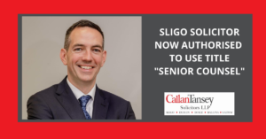 Roger Murray Sligo Solicitor Now Authorised to use title Senior Counsel