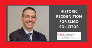 Roger Murray Historic Recognition for Sligo Solicitor