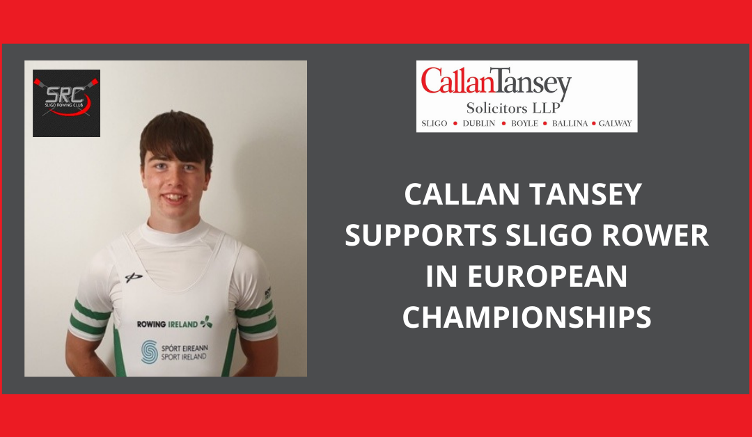 Callan Tansey Supports Young Irish Rower In Bid For European Glory