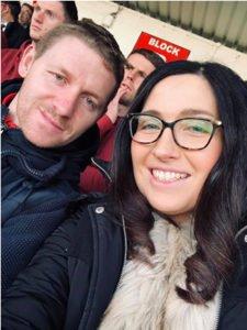 Caroline McLaughlin at Sligo Rovers match