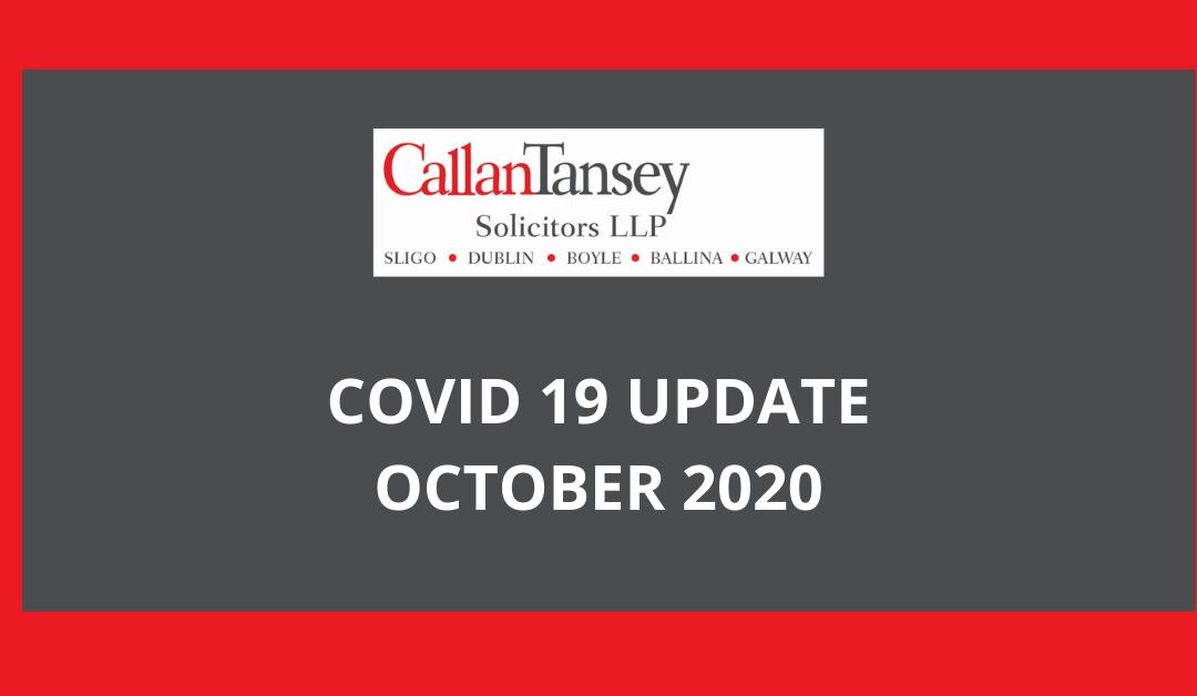 COVID 19 OCTOBER update blogpost header