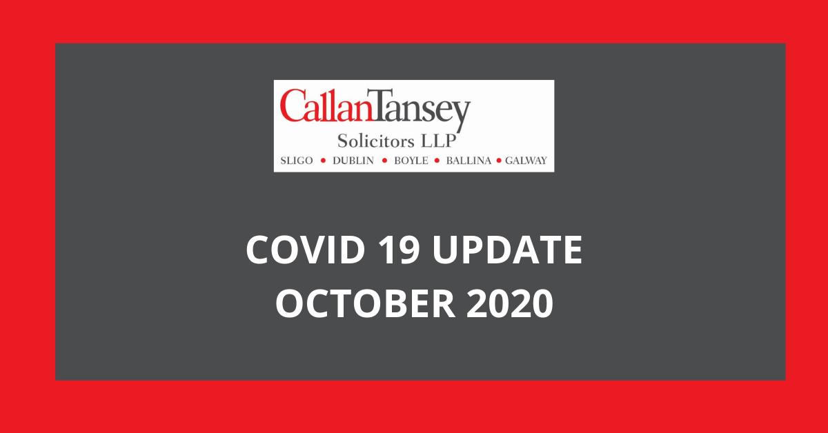 Callan Tansey Covid19 Update 22.10.2020