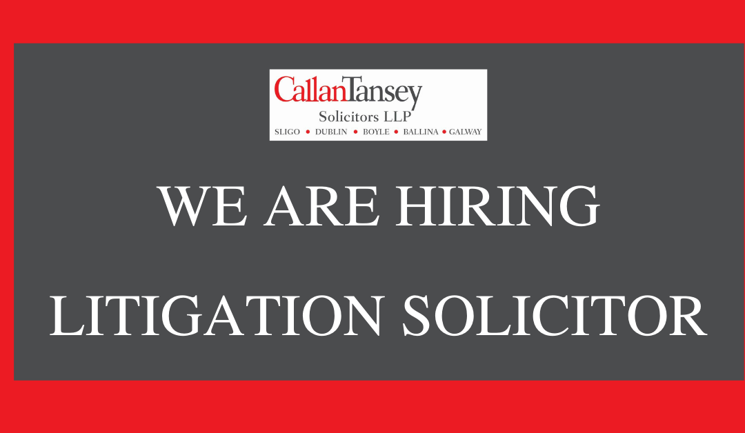 Excellent Opportunity for a Litigation Solicitor