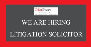 Callan Tansey hiring Litigation Solicitor