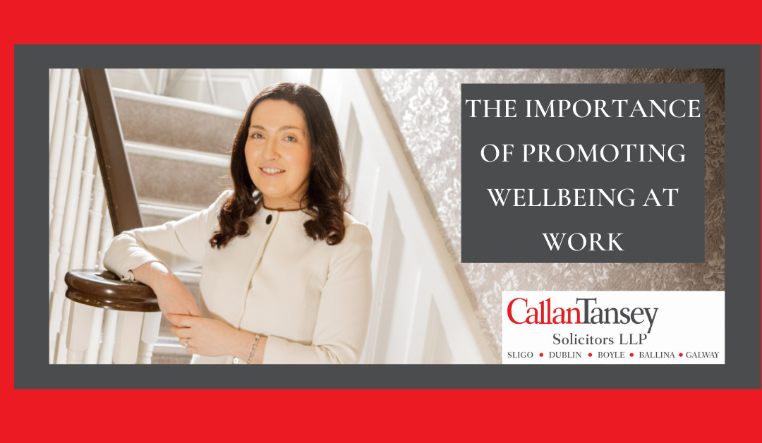 The Importance of Promoting Wellbeing at Work