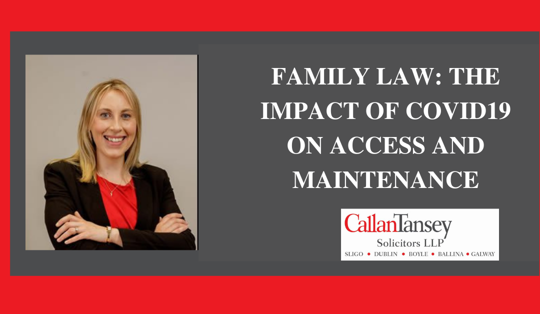 Family Law: The Impact Of Covid-19 On Access And Maintenance