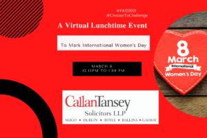 Callan Tansey International Women's Day Event